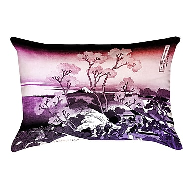 Bloomsbury Market Clair Japanese Cherry Trees Pillow Cover; Orange/Purple