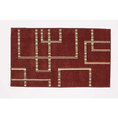 Ebern Designs Singleton Russet Brown Desert Area Rug; 1'8'' x 2'10''