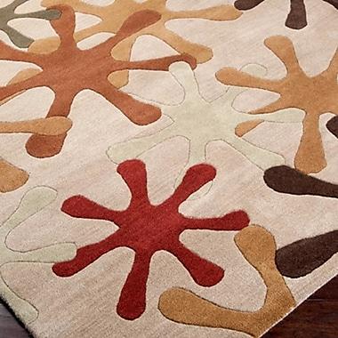 Ebern Designs Diana Taupe Area Rug; 2' x 3'
