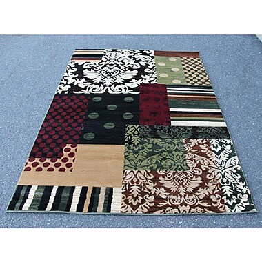 Winston Porter Alanson Green/Beige Indoor/Outdoor Area Rug; 4' x 5'