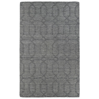 Ebern Designs Dobson Hand-Tufted Gray Area Rug; 8' x 11'