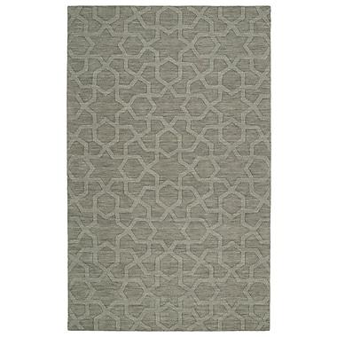 Ebern Designs Dobson Handmade Gray Area Rug; 5' x 8'