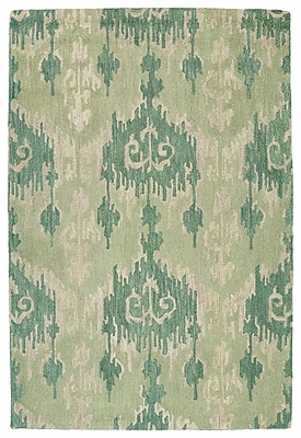 Ebern Designs Dodge Green Area Rug; 8' x 11'
