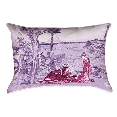 Bloomsbury Market Enya Japanese Courtesan Down Alternative Lumbar Pillow; Pink/Purple