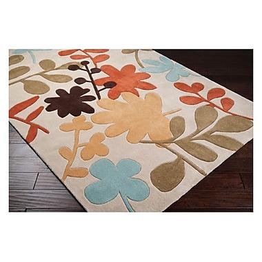Ebern Designs Deveau Ivory Rug; 5' x 8'