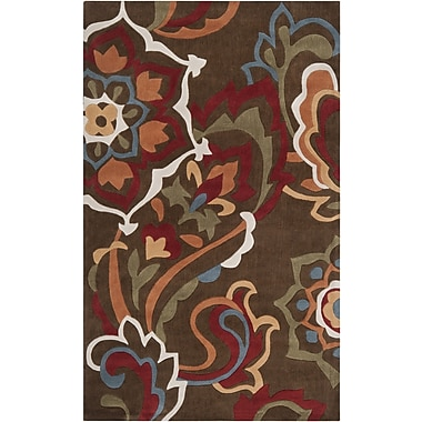 Ebern Designs Deveau Green Rug; 5' x 8'