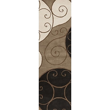 Ebern Designs Diana Brown Area Rug; Oval 6' x 9'