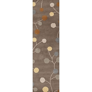 Ebern Designs Diana Oyster Gray Area Rug; Runner 2'6'' x 8'