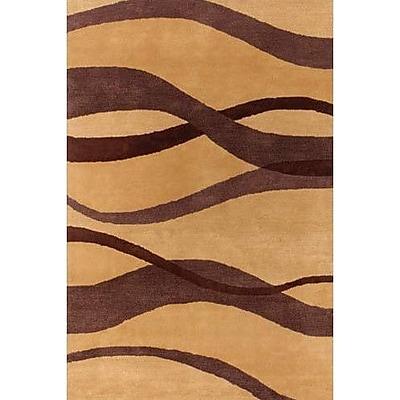 Ebern Designs Duluth Brown/Tan Area Rug; 7'9'' x 10'6''