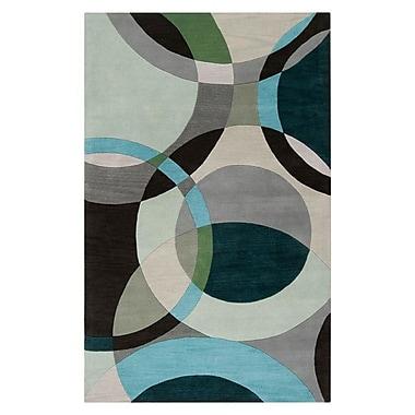 Ebern Designs Dewald Gray/Light Celadon Area Rug; Novelty 6' x 9'