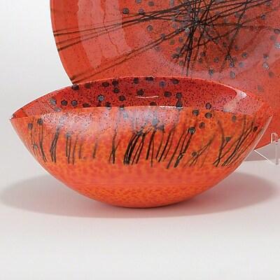 Bloomsbury Market Faunia 5.5'' Oval Bonfire Murano Glass Bowl