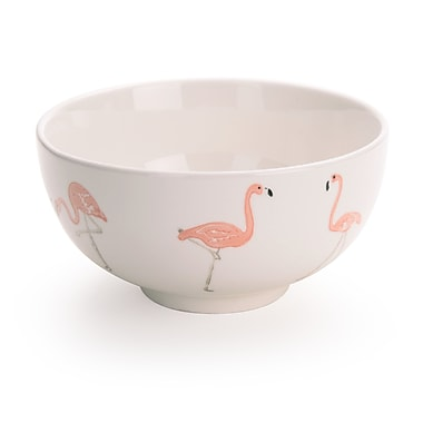 Brayden Studio Tassone 28 oz. Flamingo Dessert Bowl (Set of 4)