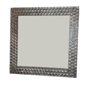 Bloomsbury Market Borendy Square Hammered Frame Accent Mirror