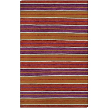Ebern Designs Cordero Coral Hand-Woven Punch Indoor/Outdoor Area Rug; 3' x 5'
