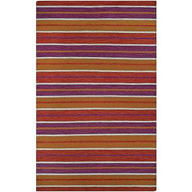 Ebern Designs Cordero Coral Hand-Woven Punch Indoor/Outdoor Area Rug; 5' x 8'