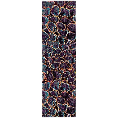 Ebern Designs Cleveland Contemporary Turquoise Area Rug; Runner 2'3'' x 8'