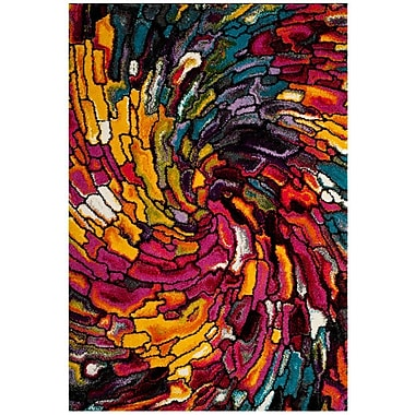 Ebern Designs Cleveland Pink/Yellow Area Rug; 3' x 5'