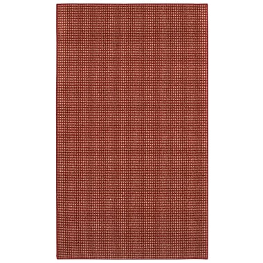 Charlton Home Steuben Red Area Rug; 5' x 7'