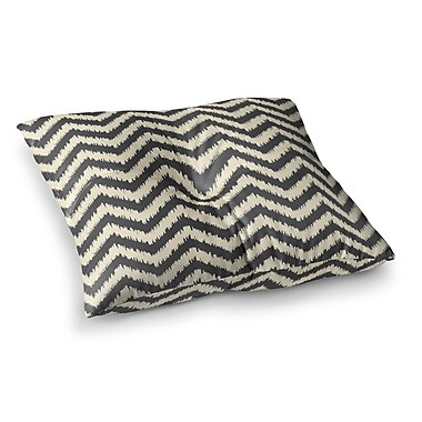 East Urban Home Moonrise Chevron ikat by Amanda Lane Floor Pillow; 23'' x 23''