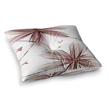 East Urban Home Flower Aubergine by Alison Coxon Floor Pillow; 23'' x 23''