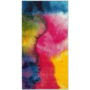 Ebern Designs Clara Pink/Purple Area Rug; 4' x 6'