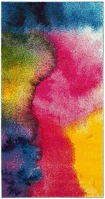 Ebern Designs Clara Pink/Purple Area Rug; 8' x 10'
