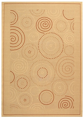 Ebern Designs Mullen Transitional Circles Outdoor Rug; 9' x 12'6''