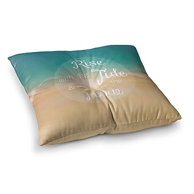 East Urban Home Rise w/ the Tide by Alison Coxon Floor Pillow; 23'' x 23''