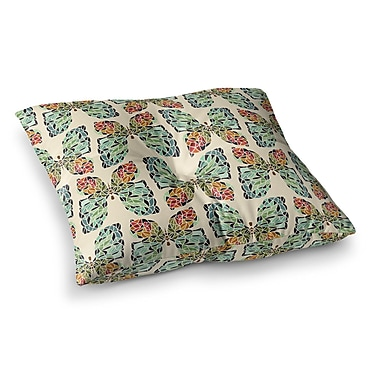 East Urban Home Butterfly Pattern by Art Love Passion Floor Pillow; 23'' x 23''