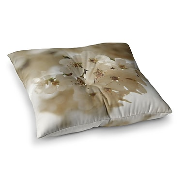 East Urban Home Flowering Pear Petals by Angie Turner Floor Pillow; 23'' x 23''