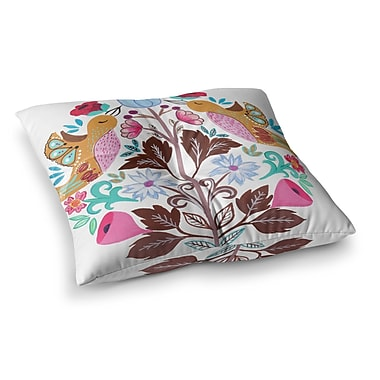 East Urban Home Spring Meadow Illustration by Agnes Schugardt Floor Pillow; 26'' x 26''