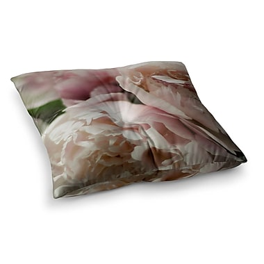 East Urban Home Peonies by Cristina Mitchell Floor Pillow; 26'' x 26''