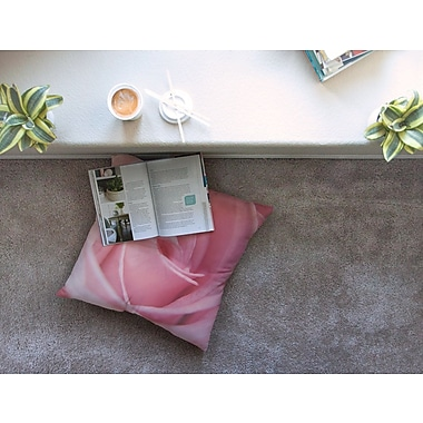 East Urban Home Soft Rose by Angie Turner Floor Pillow; 23'' x 23''