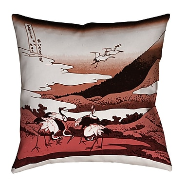 Bloomsbury Market Montreal Japanese Cranes Square Indoor Pillow Cover; 18'' x 18''