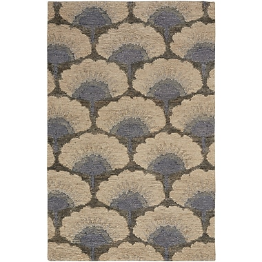 Bloomsbury Market Chappell Hand-Knotted Beige/Gray Area Rug; 9' x 12'