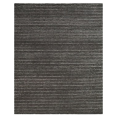 Union Rustic Amherst Hand-Tufted Graphite Area Rug; 8' x 11'