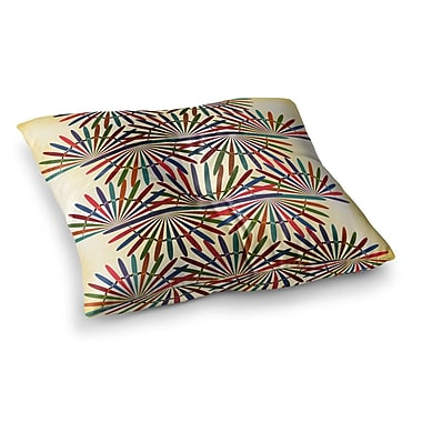 East Urban Home Colorful Abstract Pattern by Famenxt Floor Pillow; 26'' x 26''