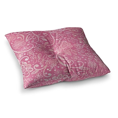 East Urban Home Too Much Floral by Heidi Jennings Floor Pillow; 23'' x 23''