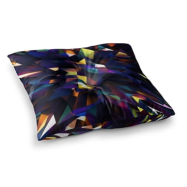 East Urban Home Low Iris Poly Illustration by Danny Ivan Floor Pillow; 26'' x 26''