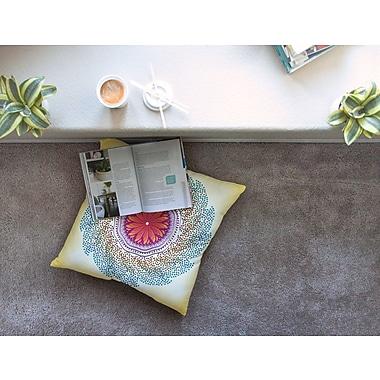 East Urban Home Confetti Dots Mandala by Famenxt Floor Pillow; 23'' x 23''