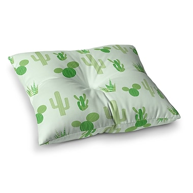 East Urban Home Prickly Cactus Nature Illustration by Famenxt Floor Pillow; 26'' x 26''