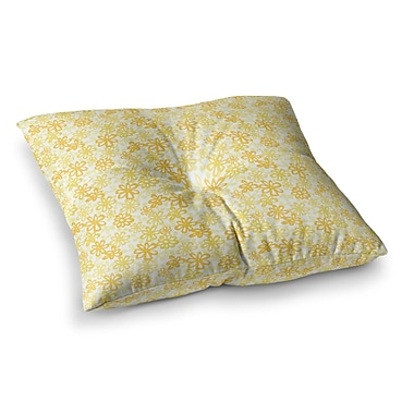 East Urban Home Paper Daisy by Julie Hamilton Floor Pillow; 23'' x 23''