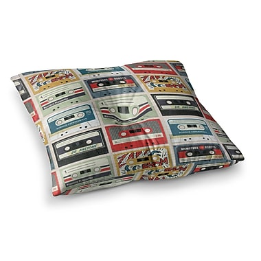East Urban Home Retro Tape by Heidi Jennings Floor Pillow; 26'' x 26''