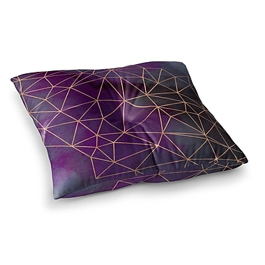 East Urban Home Watercolor Storm by Cafelab Floor Pillow; 23'' x 23''
