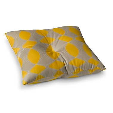 East Urban Home Geometries by Julia Grifol Floor Pillow; 23'' x 23''