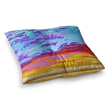 East Urban Home Dancing Clouds Sunset by Jeff Ferst Floor Pillow; 26'' x 26''