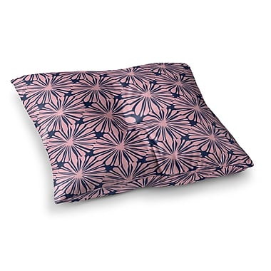 East Urban Home Daisy Pattern by Amy Reber Floor Pillow; 26'' x 26''