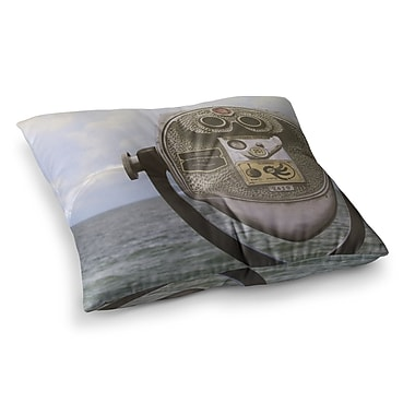 East Urban Home Ocean View by Angie Turner Floor Pillow; 23'' x 23''