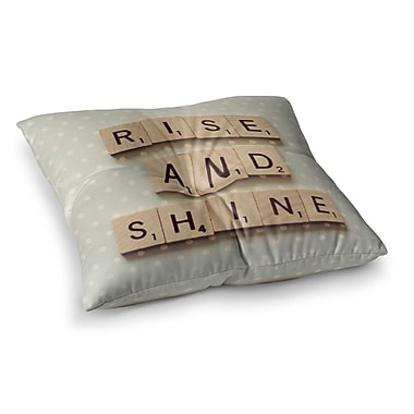 East Urban Home Rise and Shine by Cristina Mitchell Floor Pillow; 26'' x 26''