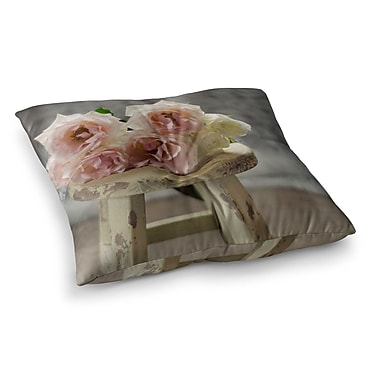 East Urban Home Roses on Stool Floral Photography by Cristina Mitchell Floor Pillow; 26'' x 26''